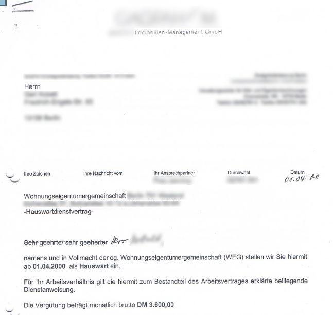 Hausmeister als inoffizieller Mitarbeiter der WEG-Verwaltung